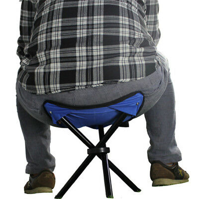 Outdoor Fishing Camp Chair Tripod Stand Folding Stool Lightweight Portable