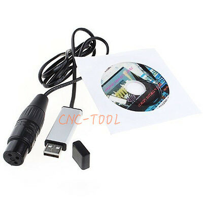 USB to DMX512 Mini Interface Adapter Controller Stage Lighting Dimmer Dongle