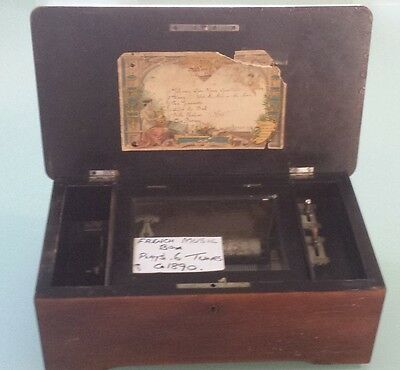 1890 French Music Box