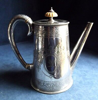 SUPERB Engraved ~ ELKINGTON ~ Family CRESTED ~ SILVER Plated ~ TEAPOT ~ c1875