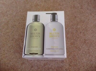 Molton Brown Grapeseed Bath & Shower & Body Lotion Gift Set Bnib