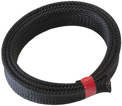 "AeroFlow PET Flex Braid Heat Sleeve 1Meter, Up TO 1"" I.D, Tight Weave High Cover"
