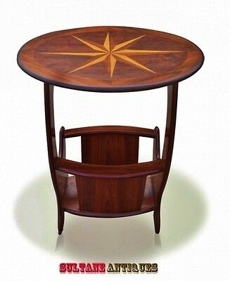 Gorgeous marquetry Regency oval Canterbury  Table