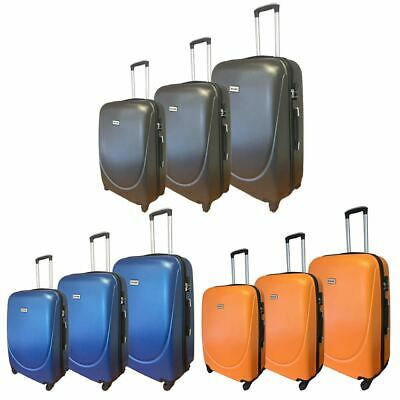ABS Light Hard Shell Cabin Hand & Hold Luggage Travel Case Suitcase Bag Baggage