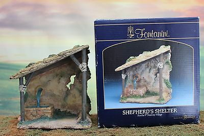 "5"" Scale Fontanini Nativity Village SHEPHERD'S SHELTER - New In Box Item #55571"