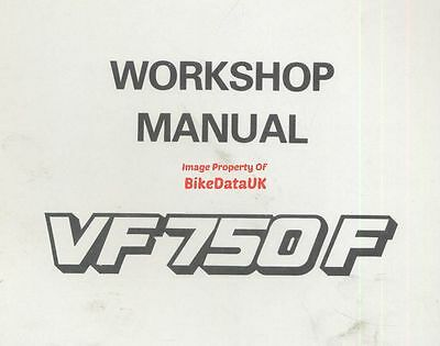 Genuine Honda VF750F (1983-on) Factory Work Shop Manual VF 750 F RC15 V-Four