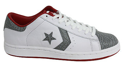 CONVERSE PRO LEATHER Ox Varsity Lace Up Mens White Grey