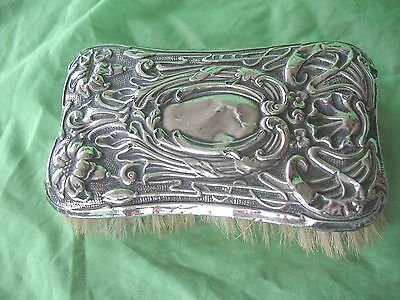 Old antique Solid Silver top Art Nouveau vanity brush Sheffield 1905/ 06