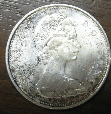 Canada 50 Cents Silver, 1867 Centennial with Wolf