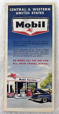 Mobil Oil Co. Central & Western United States Map
