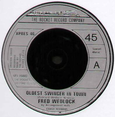 """Fred Wedlock ~ Oldest Swinger In Town / The Jogger's Song ~ 1980 Uk 7"""" Single"""