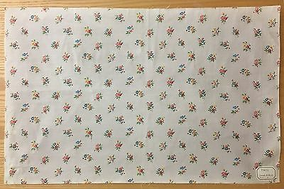 Charming Early 20th Century French Printed Floral Fabric (2102 )