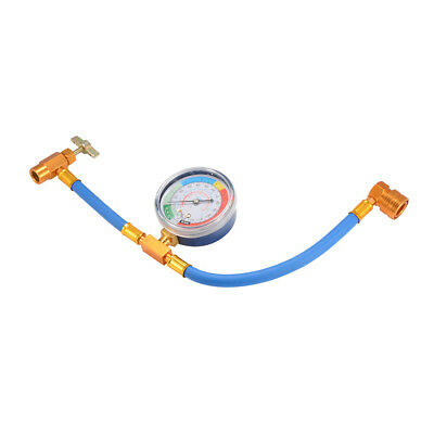 Car Air Conditioning Pipe Refrigerant Recharge Gas Gauge R134A Hose Valve MA1274