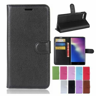 """PU Leather Flip Stand Wallet Case Cover For 5.5"""" Doogee Mix Cell Phone"""
