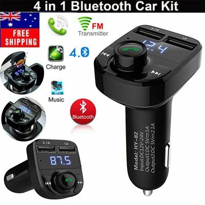Bluetooth Car Kit MP3 Player FM Transmitter SD USB Charger For iPhone 6s SamsuBE
