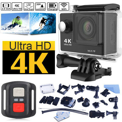 Waterproof 4K Ultra HD 1080P H9R Wifi Sport Action Camera Cam+Remote Control