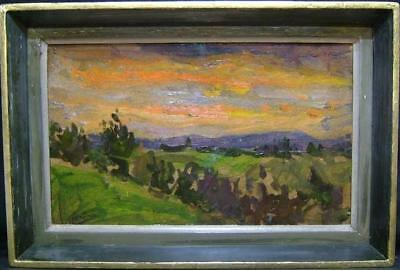 Peter Collins (B. 1923) - Rca - Tonalist Sunrise Oil - Signed - Original Frame