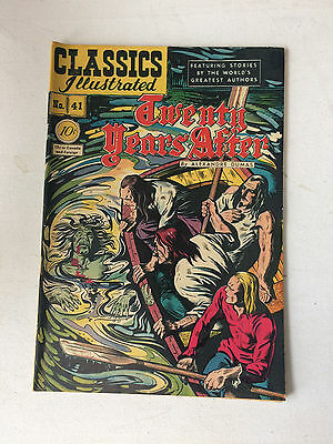 Classics Illustrated 1947 Twenty Years After 1st. Edition Alexander Dumas N0. 41