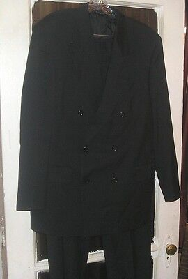 Italian Made Mens Double Breasted Wool Suit by Franco Rossi 40R tagged 41R