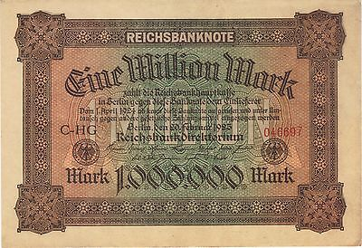 1923 1 Million Mark Germany Currency Aunc German Banknote Note Bill Money Cash
