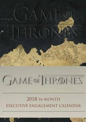 Game of Thrones 2018 16-Month Executive Engagement Calendar by Hbo 9780789333155