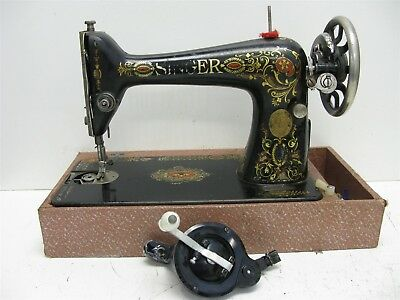 Antique 1910 Singer Sewing Machine for Parts and Repair Untested Serial G2995510