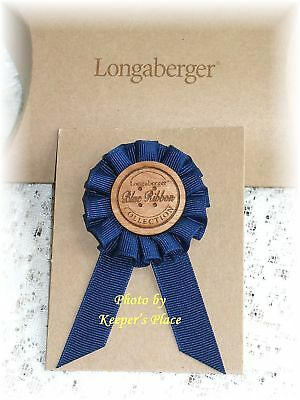 Longaberger Basket 2004 BLUE RIBBON Tie On Clip Retired Hard To Find NEW