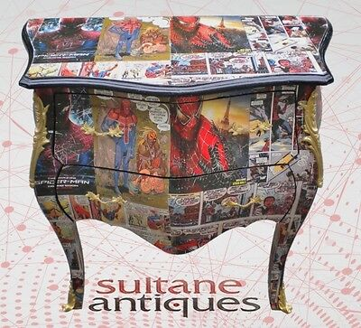Rococo cartoons filled French deco commode