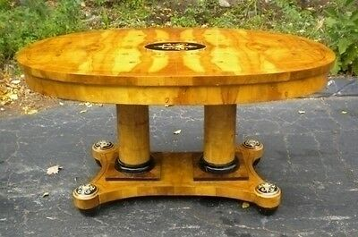 TYPICALConference centre table in the Sheraton manner olive wood