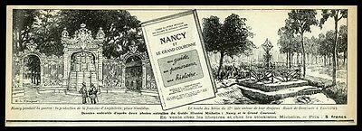 1920 Michelin tires guide to Nancy France art vintage French print ad