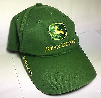 JOHN DEERE OWNERS EDITION Baseball Hat Cap Adjustable Tractor Work Farm