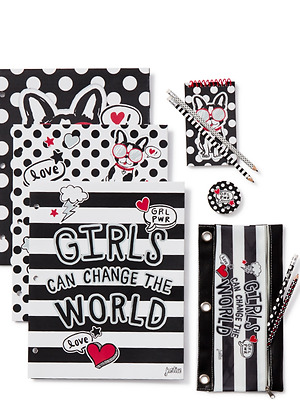 Justice Girl's Pawsitivity School Supplies Set NWT