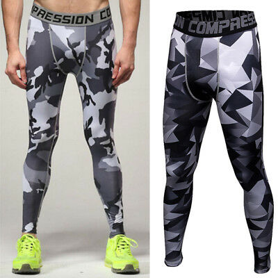 Mens COMPRESSION Base Layer Under Pants Fitness Jogging Sport Gym Tight Leggings
