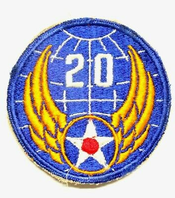 Army Air Corps Patch:  20th Air Force - WWII original