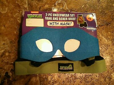 NWT TMNT Ninja Turtles underwear set w/ mask 4