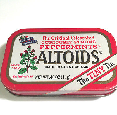 Altoids `the Tiny Tin` Peppermints Empty Collectible