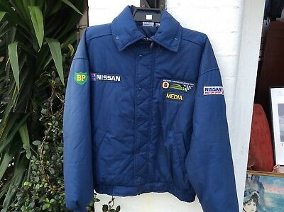 Rare Adelaide Grand Prix Media Jacket Nissan & Bp Patches Size 18