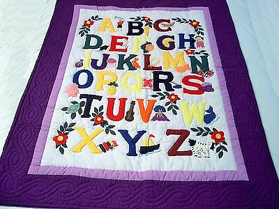HAWAIIAN-BABY-ALPHABET-QUILT-WALL-HANGING-OR-BLANKET 42 x 53