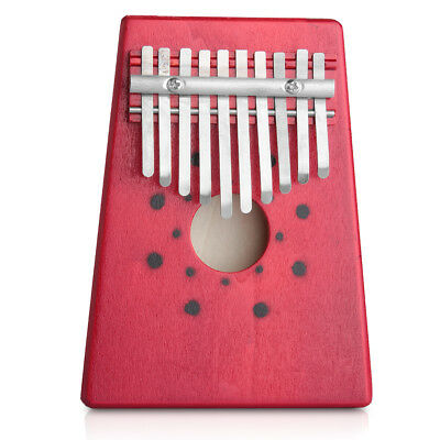 New Portable 10 KEYs Kalimba Mbira Likembe Sanza Thumb Piano Pine Light