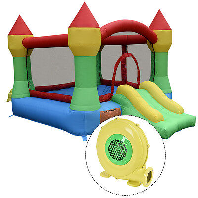 Inflatable Mighty Bounce House Castle Jumper Moonwalk Bouncer w/480W Blower