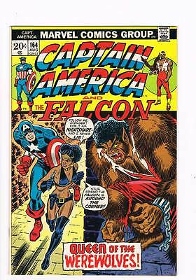 Captain America # 164 Queen of the Werewolves Alan Weiss grade 8.5 scarce book !