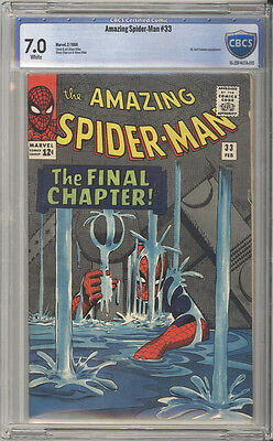 """Amazing Spider-Man #  33  Classic """"The Final Chapter"""" !  CBCS 7.0  scarce book!"""