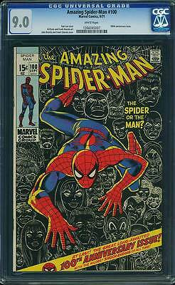 Amazing Spider-Man #  100 Anniversary Ish Classic Cover !  CGC 9.0  scarce book!