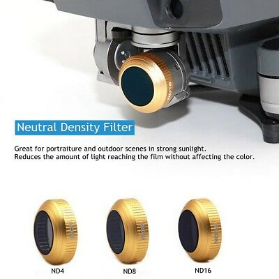 3pcs UV ND4 ND8 ND16  HD Lens Filters Set Quadcopter For DJI Mavic PRO Drone