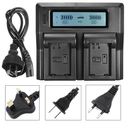 LCD Dual Battery Charger For Sony NP-FW50 A7 R S II A6300 A5100 A6000 RX10 NEX 6