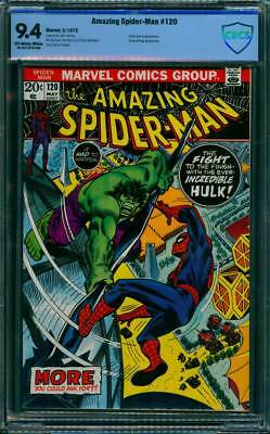 Amazing Spider-Man #  120  Spider-Man versus the Hulk !  CBCS 9.4  scarce book!