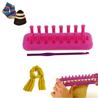Plastic Rectangle Wool Knitting Loom with Hook Scarf Hat Scarf Hat Maker