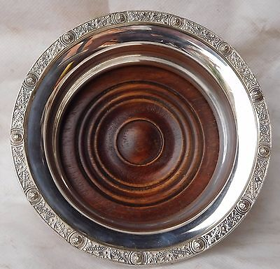 Antique Silver Plated Wine /decanter Coaster