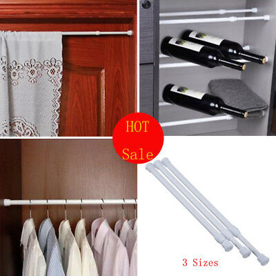 Extendable Telescopic Spring Loaded Net Voile Tension Curtain Rail Pole Rods HOT