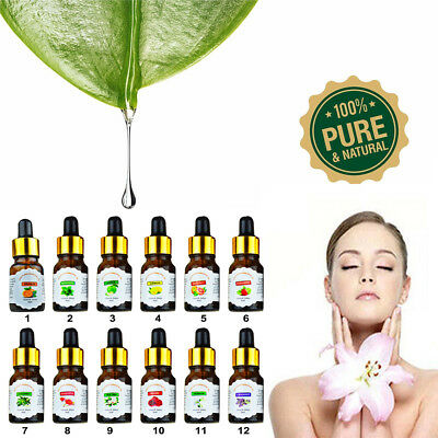 10ml Essential Oil Pure & Natural Aromatherapy Drop Design For Diffuser 12 Style